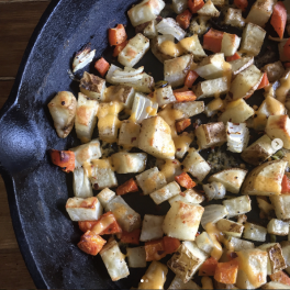 Potato and Carrot Hash (with cheese)