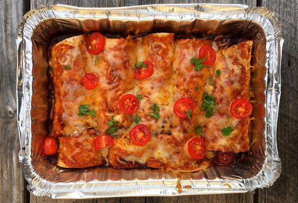 Chicken + Veggie Enchiladas
