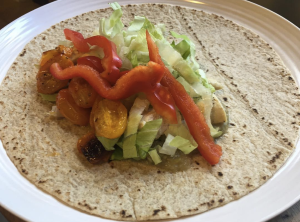 Chicken & Roasted Eggplant Wrap
