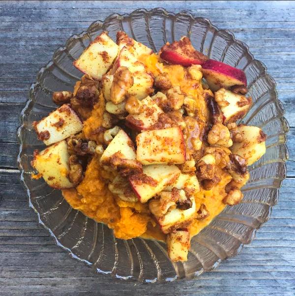 Spiced Sweet Potato and Pumpkin Mash