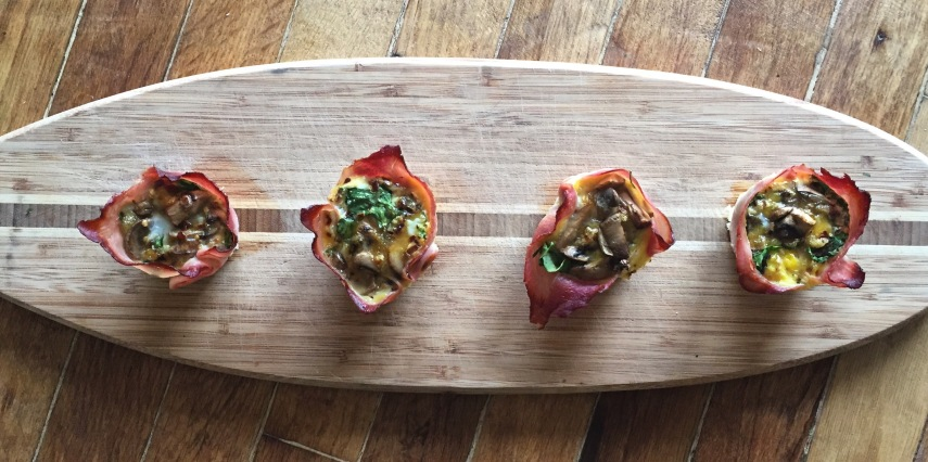 Ham, Spinach and Mushroom Egg Cups