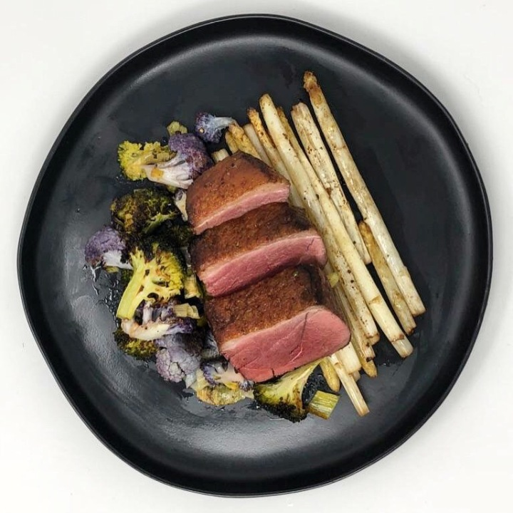 Simple Seared Duck and Veggies